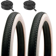 Pair of White Wall Raleigh TYRES & Raleigh TUBES 16 x 1.75 Junior Bmx Bike Tyres