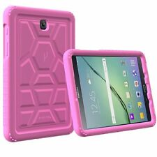 For Samsung Galaxy Tab S2 8.0 Turtle Skin ShockProof Bumper Silicone Case Pink