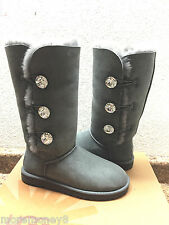 UGG EXCLUSIVE BAILEY BUTTON BLING TRIPLET CHARCOAL BOOT sz US 9 / EU 40 / UK 7.5