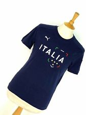 PUMA DARK BLUE ITALIA ITALY FOOTBALL SOCCER WORLD CUP DARK BLUE T-SHIRT SHIRT S