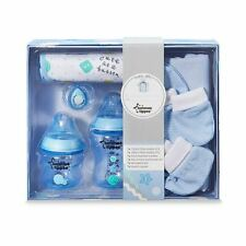 Tommee Tippee Closer to Nature Kit Set Regalo Bottiglia Bib Ciuccio - Blu
