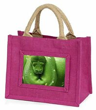 Green Tree Python Snake Little Girls Small Pink Shopping Bag Christmas, AR-S1BMP