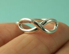 Tiffany & Co. Ring Sterling Silver 925 Infinity Ring Band Size 7 3/4 USA