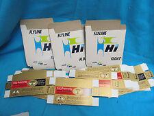 LOT OF NOS HORROCKS-IBBOTSON FLYLINE HI FLOAT & PENNEYS FOREMOST LINE BOXES