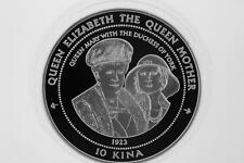 1998 Papua New Guinea Silver Proof 10 Kina 5oz .999  Queen Mary Duchess York
