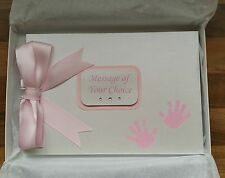 Personalised Hand Design Baby Shower*Christening*Photo Album*Guest or Scrap Book