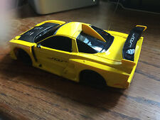 Xmods 2004 acura nsx yellow rc car with working headlights and upgrades