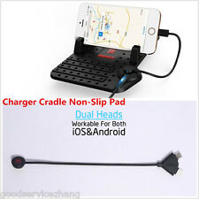 Car Charger Holder Non-Slip Pad for Apple iPhone 6S Plus 5 5S USB Cradle Mount