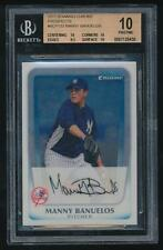2011 BOWMAN CHROME PROSPECTS MANNY BANUELOS ROOKIE BGS 10 PRISTINE # BCP133 RC