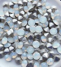 6 WHITE OPAL Crystal Swarovski Xilion 1028 29ss 6mm F Chatons