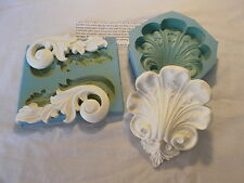 SILICONE RUBBER MOULDS CENTRE PIECE AND SCROLLS FURNITURE FIRE PLACE CUPBOARDS
