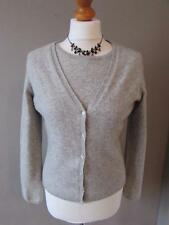 IN EXTENSO Ladies Pale Grey Pure Cashmere Top & Cardigan Twin Set Size 12