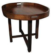 Oval Tray Table ERUM. Large Mango Wood Tray with separate foldable wood stand