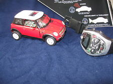 2001 Red Mini Cooper * Infra-Red Remote Control Watch * Die Cast *  New in Box *