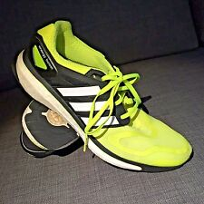 Excellent Adidas Energy Boost 2m Mens Running Yellow Black SZ 11 45 EUR $160