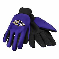 Baltimore Ravens Gloves Sports Logo Utility Work Garden NEW Colored Palm