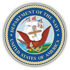 Navy Department Seal USA Car Bumper Sticker Decal 5'' x 5''