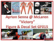 1:20 Ayrton Senna @ McLaren VICTORY resin driver figure with decals 015ASMc