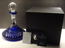 WATERFORD CRYSTAL LISMORE SHIPS DECANTER COBALT BLUE ~ UNUSED IN ORIGINAL BOX