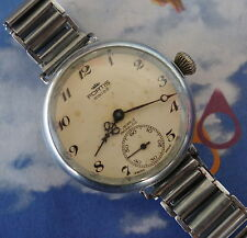 Rare Oversize Men FORTIS Military Issued Manual Winding Trench Wrist Watch SWISS