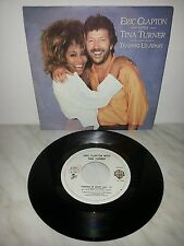 "7"" 45 GIRI ERIC CLAPTON WITH TINA TURNER - TEARING US APART - ITALY PRESS"