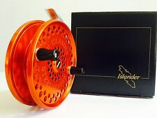 ISLANDER STEELHEADER CENTERPIN FLOAT REEL (ORANGE with BLACK HANDLES) **NEW**