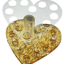 Heart Shape Nail Brush Holder Acrylic Brush Display Nail Makeup Brush Pen Stand