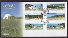 Jersey 2011 FDC - Scenery - SEPAC - with 6 stamps