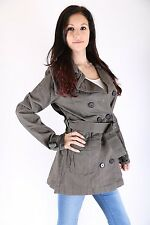 Only  Damen Trenchcoat Jacke Paddington Trench Coat Größe L Gun Metal only sexy