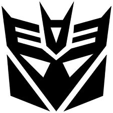 2x BLACK Transformers Decepticon Vinyl Decal Sticker Car Hood Window Laptop iPad