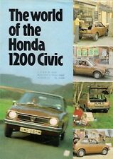 Honda Civic 1200 1973-74 UK Market Foldout Sales Brochure 2-dr 3-dr De Luxe