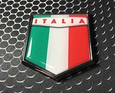 Italia Flag Domed CHROME Emblem Proud Italy Flag Car 3D Sticker Azzurri 2x 2.25""