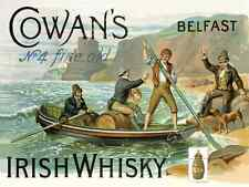 Cowan's Irish Whiskey Metal Sign, Retro Bar, Pub, Garage,Den Decor. Alcohol