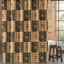 Browning Country Shower Curtain - Cabin Rustic Hunting Bathroom