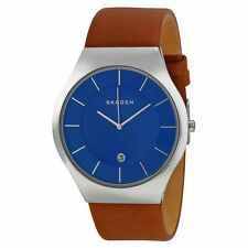 Skagen Men's Grenen Leather Watch SKW6160