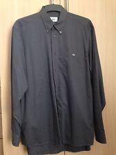 Lacoste chemise à manches longues taille 39 gris moyen
