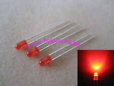 100pcs 3mm Red Diffused Round Flangeless Bright LED Leds lamp + Resistor for 12V