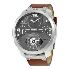 Diesel Men's Chronograph Machinus Dark Brown Leather Strap 55x60mm Watch DZ7360