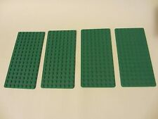 4x LEGO Bright Green Baseplate 8 x 16 (Element ID 3865)