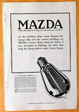 Vintage 1916 Mag Print Ad Mazda  lamp-makers General Electric / Westinghouse