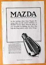 Vintage 1916 Mag Print Ad Mazda  lamp-makers General Electric / Westinghouse