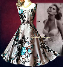 Fabulous&Utterly Feminine MONSOON *Oregan* 50s Babe: floral occasion dress 14