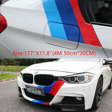 177''X11.8''BMW M color stripes Rally Hood Racing Motorsport vinyl decal sticker