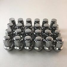 Set 24 14mm x 2.0 Ford F150 Expedition Chrome Replacement Lug Nuts 7/8 W60288