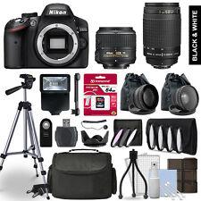 Nikon D3200 SLR Camera 4 Lens Kit 18-55 + 70-300 + 64GB Multi Accessory Bundle