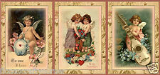 """9 """"VALENTINE'S DAY"""" CHILDREN CHERUB HANG / GIFT TAGS FOR SCRAPBOOK PAGES (22)"""
