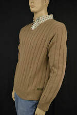 Ralph Lauren Camel Tan V Neck Cableknit Sweater Medium NWT $125