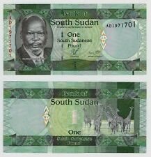 South Sudan One Pound Uncirculated crisp Note 2011