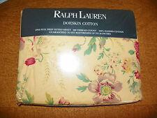 """RALPH LAUREN """"GARDEN FLORAL"""" NEW FULL FITTED SHEET-100% COTTON-DOESKIN COTTON"""