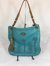Fossil Campbell Leather Hobo Bag/Purse in Blue